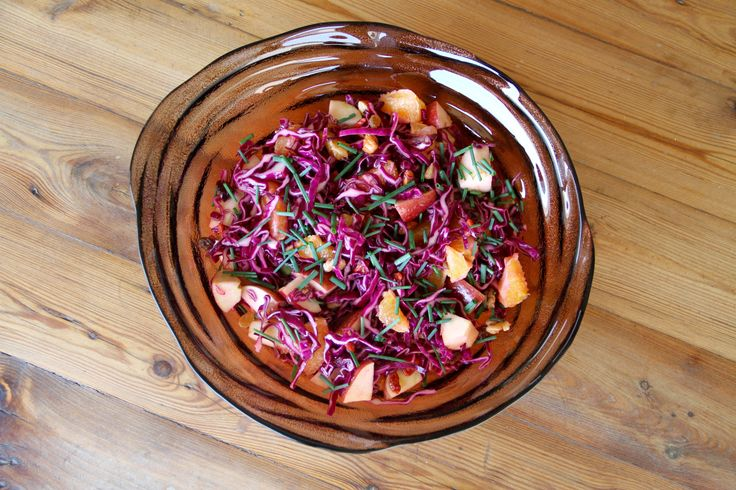 Apple, cabbage and orange salad - try something different!