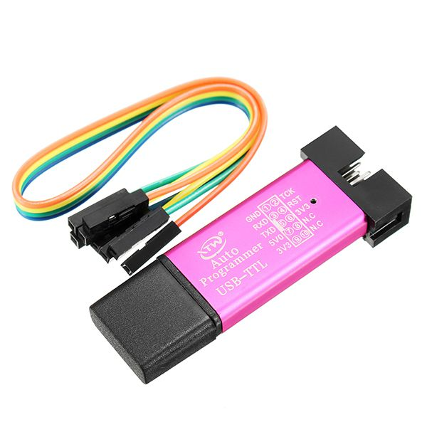 3pcs 5V 3.3V SCM Burning Programmer Automatic STC Download Cable USB To TTL USB To Serial Port Baud Rate 115200 500MA Self-Recovery Fuse CH340 + SCM Control Core STCISP Fully Isolated