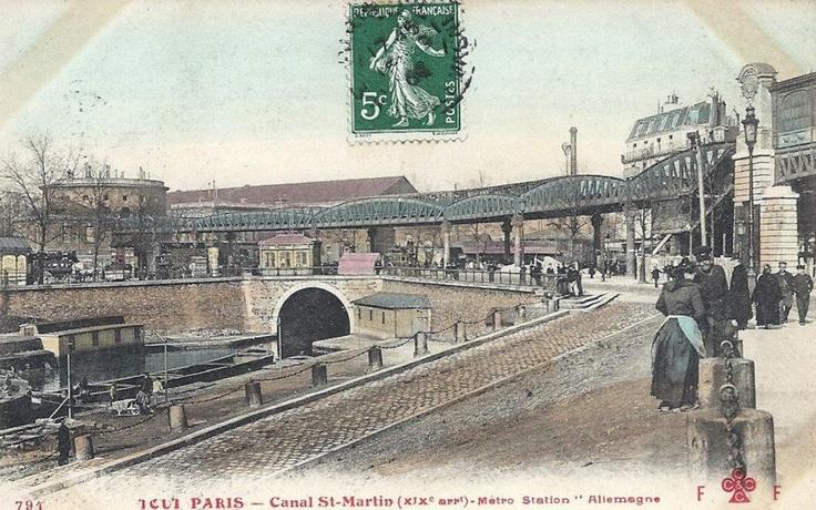 Le Canal Saint Martin au Métro Allemagne (Jaurès) / Paris 19ème