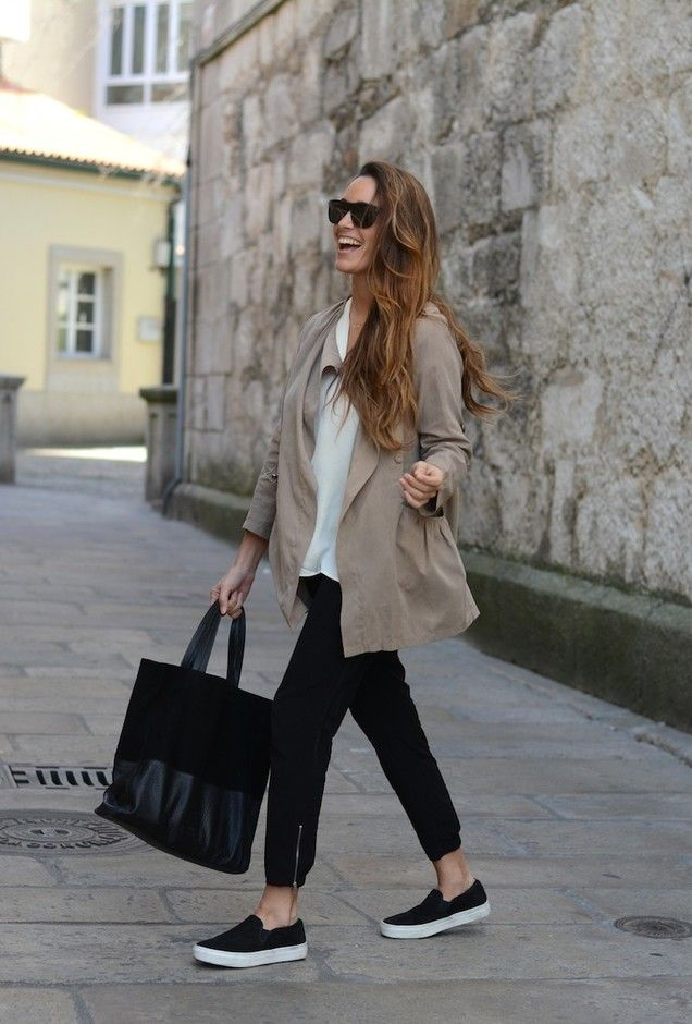 Casual Outfit Idea with Slip-on Shoes