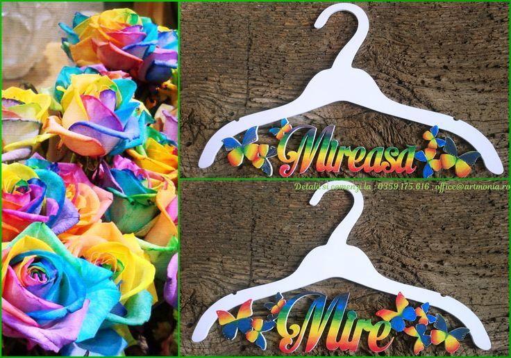 Rainbow Wedding Hangers by Artmonia