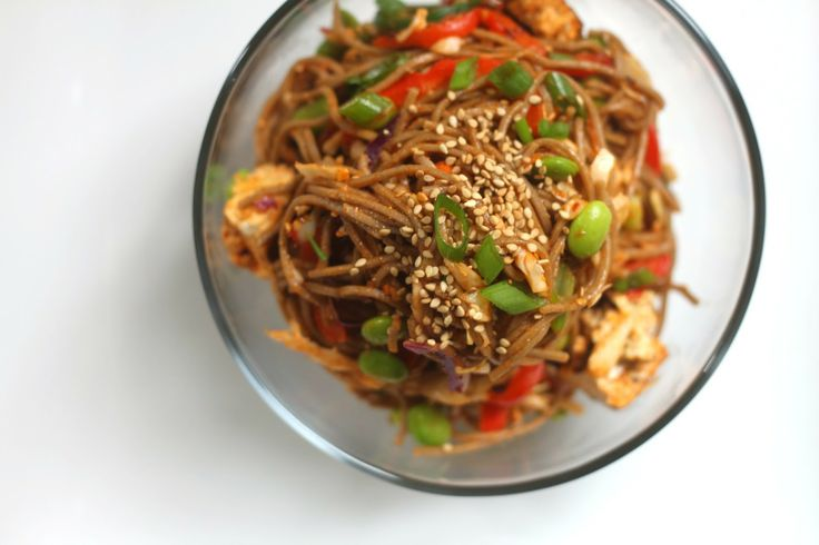 ... and grilled tofu | soy | Pinterest | Soba Noodles, Spicy and Noodles