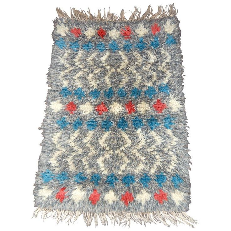 Check Out The Deal On Vintage Swedish Rya Rug At Eco First Art
