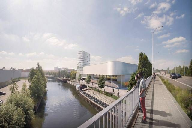 Een toekomstig uitzicht van op het viaduct.-Repro Rutger Lievens
