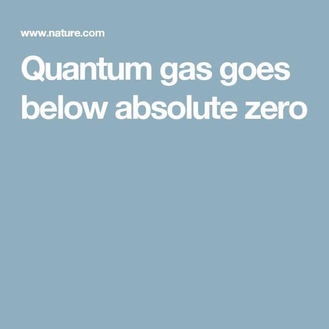Quantum gas goes below absolute zero
