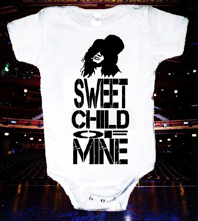 Sweet Child of Mine Onsie One Piece Body Suit by HappyGoatShirts. $10.99, via Etsy.