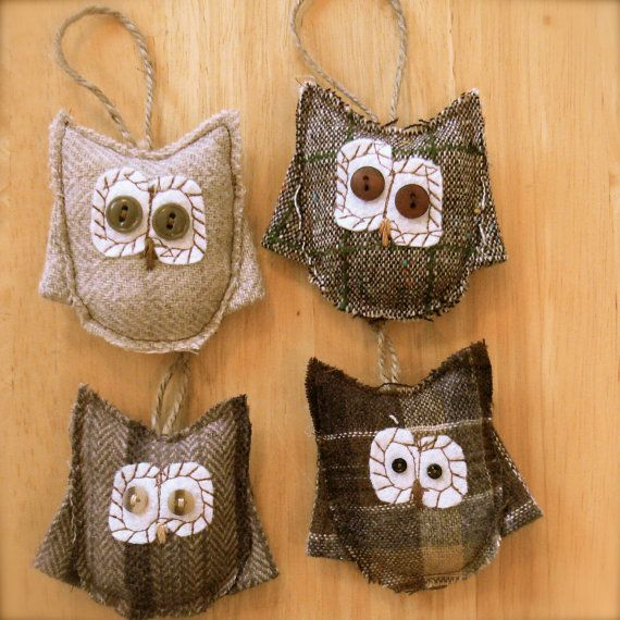 Owl Christmas tree ornaments.