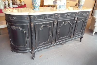 ancienne enfilade en merisier repeint en noir vielli meubles patin s pinterest. Black Bedroom Furniture Sets. Home Design Ideas