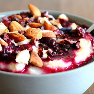 Porridge Fruits Rouges Amande