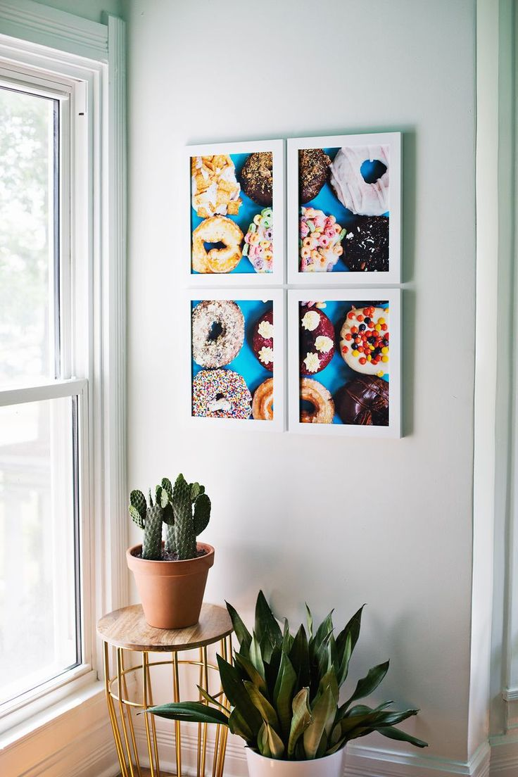 Print giant photo art at home! (click through for tutorial): Art Doughnuts, Dream Apartment, Diy Art, Art Diy, Tiled Photo, Art Arrangement, Wall Photos, Photo Art