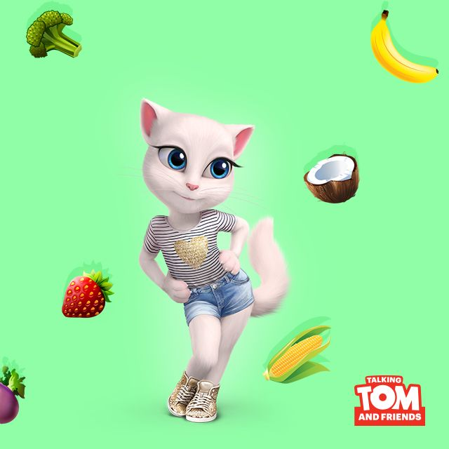 Healthy eating tip: colorful fruits and veggies are full of nutrients! Pick one color a day! 💚 #HealthyAngela xo, Talking Angela #TalkingAngela #MyTalkingAngela #LittleKitties #healthy #eatclean #vegan #fit #fitinspo #motivation #happy #goodforyou #yummy #food #plantbased #green