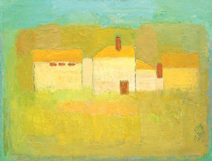 Alexandru Ciucurencu, yellow, house, art