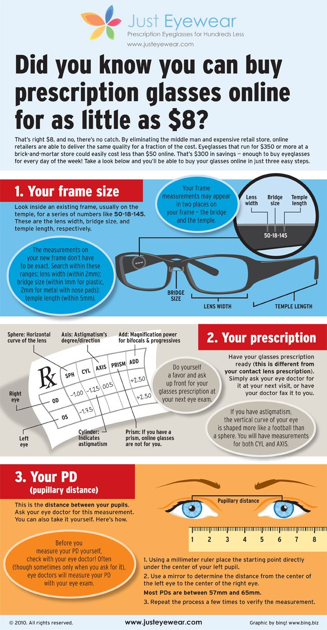 Prescription glasses for as little as $8 - I get mine from goggles4U but there are a lot of similar sites out there