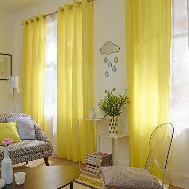 Les 25 meilleures id es de la cat gorie rideaux jaunes sur for Rideau pour chambre a coucher