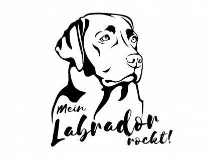 Aufkleber & TafelnHunderasse Aufkleber: Labrador