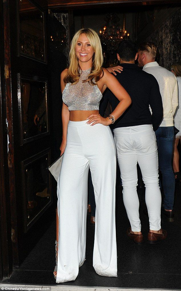 Turning heads: She's without doubt one of TOWIE's most glamorous cast members and Kate Wright upheld her stylish reputation when she celebrated her 25th birthday with a night on the town at London's Cafe de Paris on Saturday evening