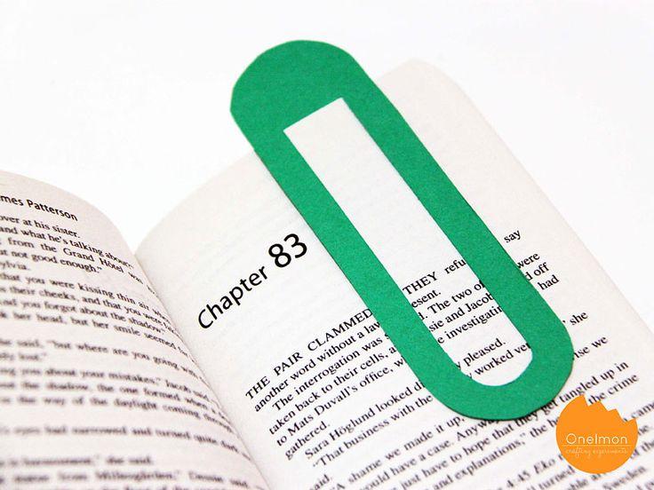 DIY: giant paper clip bookmark (free printable template)