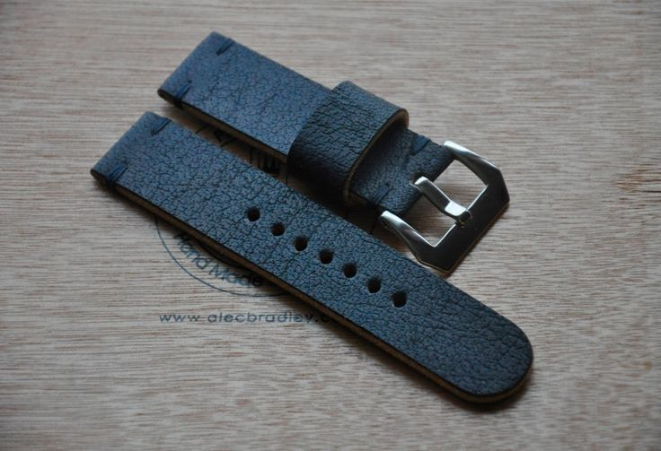 24mm vintage handmade buffalo leather watch strap by CentaurStraps on Etsy