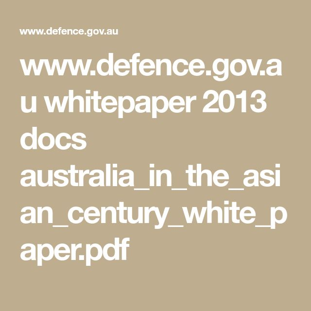 WwwDefenceGovAu Whitepaper  Docs