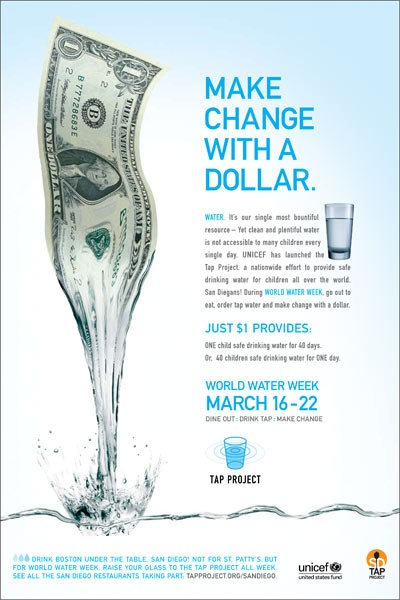 """Unicef Tap Project - """"Make Change with a  Dollar"""""""