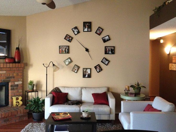 Home Decor, Wall Photo Clock Decoracion Picture Wall Clock Creative Design  Amazing Unique Make By - Best 25+ Picture Wall Clocks Ideas On Pinterest Wall Clock Decor
