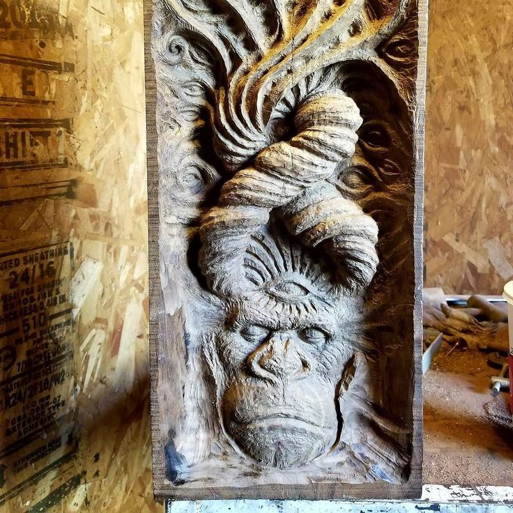 """The Monolith Phase Four... Carving Away the Unessential.  @isnervisionart Follow Here. """"Comfort is the worst thing to ever happen to the human being."""" - Aubrey Marcus.  #isnervisionart #woodcraft #shamanic"""