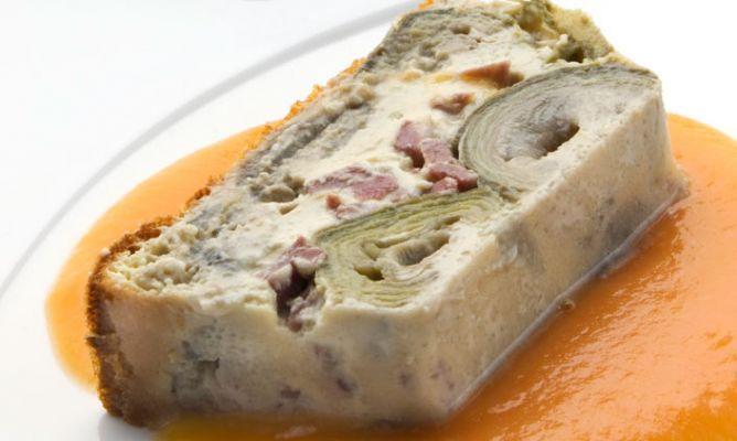 Receta de Pastel de alcachofas con jamón