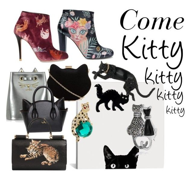 """Hi kitty"" by estebban-aguila on Polyvore featuring New Look, Camilla Elphick, Charlotte Olympia, Dolce&Gabbana, Alexis Bittar, Kenneth Jay Lane y Bling Jewelry"