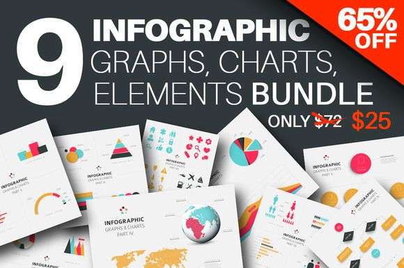 Infographics Graphs & Charts Bundle by Orson on Creative Market