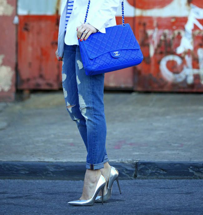 discount handbags outlet vsrs  Blue Chanel Purse