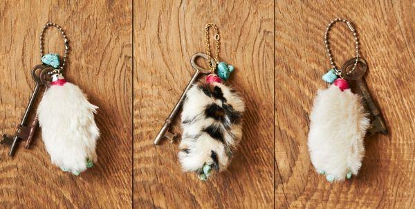 Como hacer un llavero pata de conejo