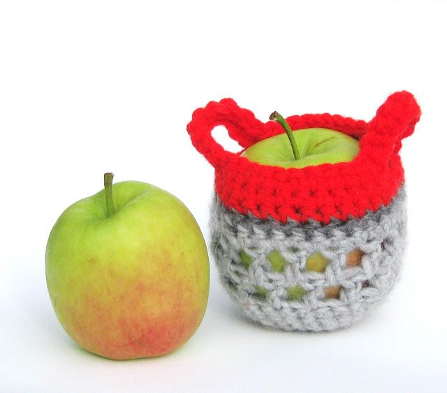 H E L E N A * H A A K T: Mandje haken voor appel