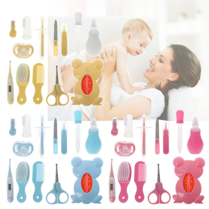 13PCS Baby Kids Health Care Kit Thermometer Nail Clippers Comb Grooming Hairbrush Pacifier Toothbrush Newborn Safety Care Tool