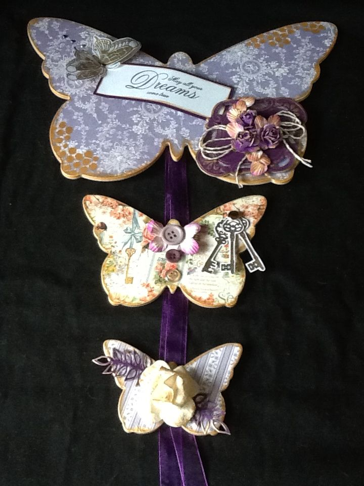 MDF butterflies, Graphic 45 papers, Sweet Lilac flowers and Claritystamps...