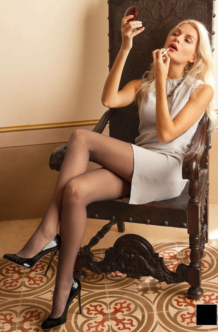Business women in stockings and high heels