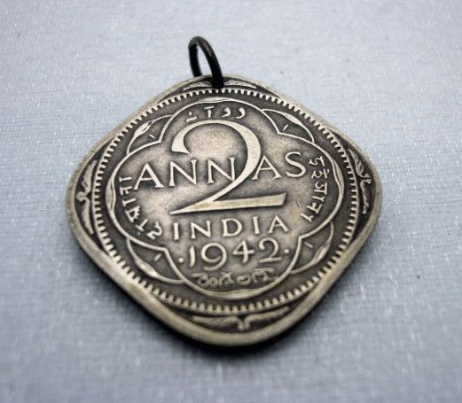 Coin Jewelry  two ANNAS COIN NECKLACE  by FindsAndFarthings