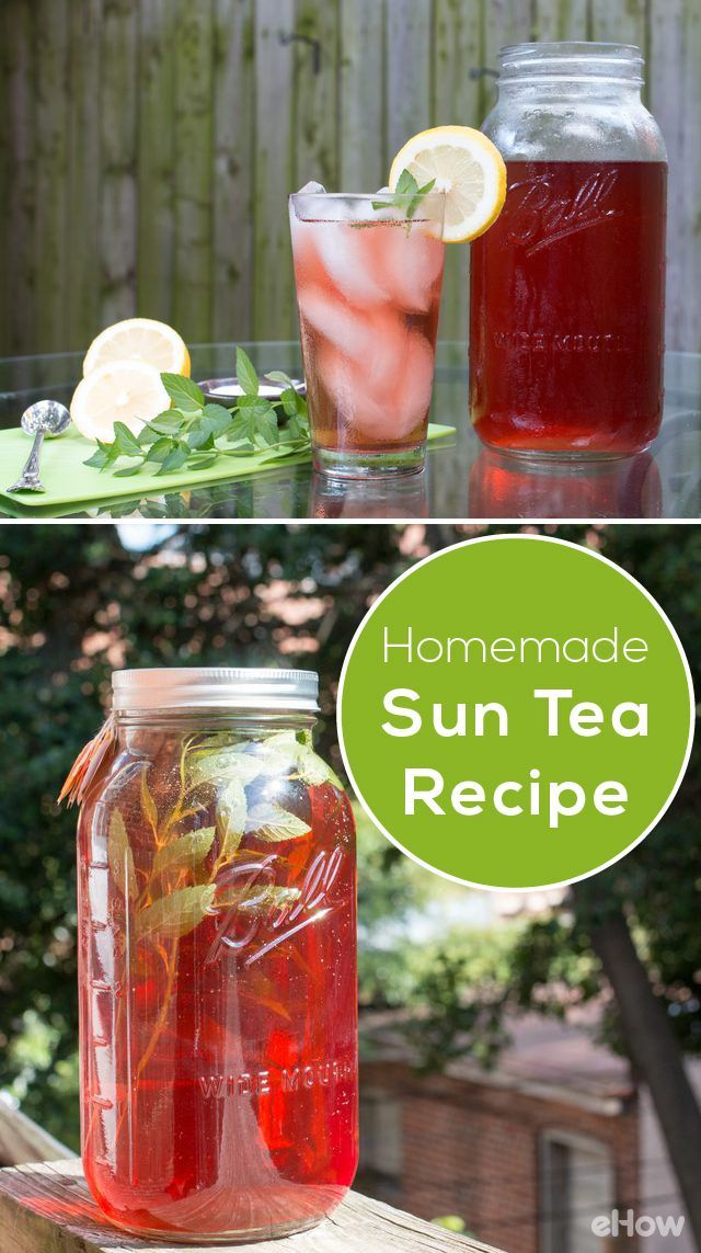 Easy homemade sun tea recipe homemade sun and sun tea for Easy fruit tea recipe