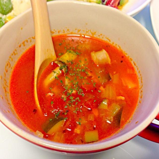 うまうま - 5件のもぐもぐ - 彼のミネストローネ風スープ by maiko0310