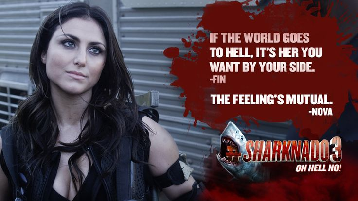 RT if you secretly want Fin and Nova to get it together and get together.  #Sharknado3