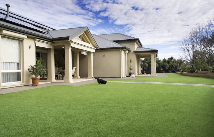 Lush and green all year round with Australian Outdoor Living's artificial lawn