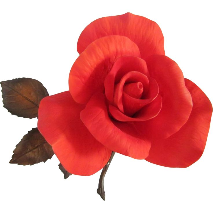 Boehm Burning Love Red Rose Floral Sculpture available from the Old Stone Mansion on Ruby Lane