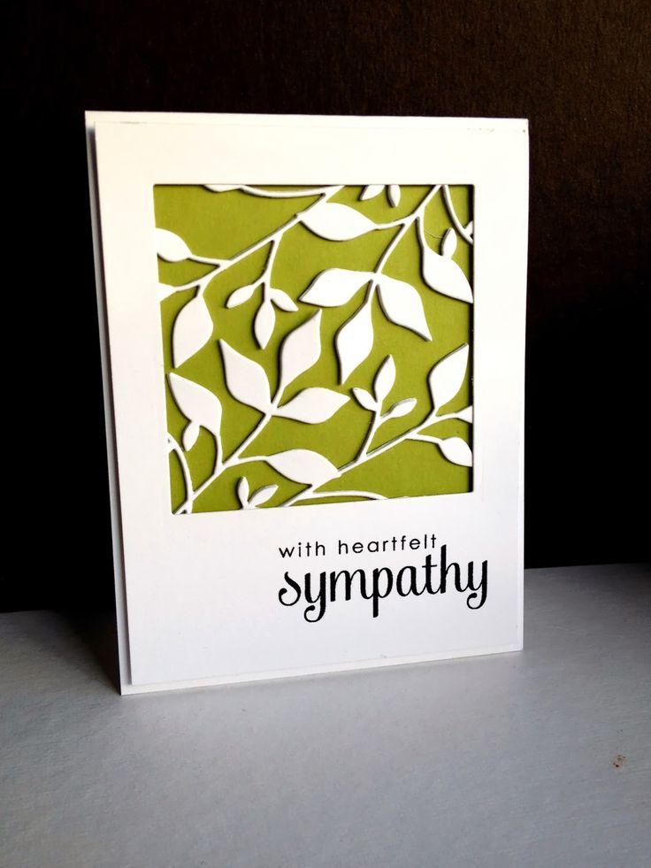 Im on a fresh foliage roll sympathy cards handmade