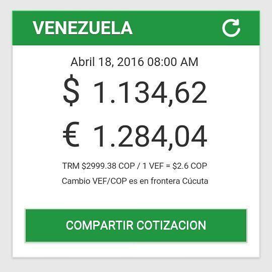 Precio del dólar   #dolar #dolars #venezuela #inflacion #economia #simadi #paralelo #lechugas #verdes #americanos #plata #dinero #Cash hoy lunes 18 de Abril 2016 by bachaquero_bipolar