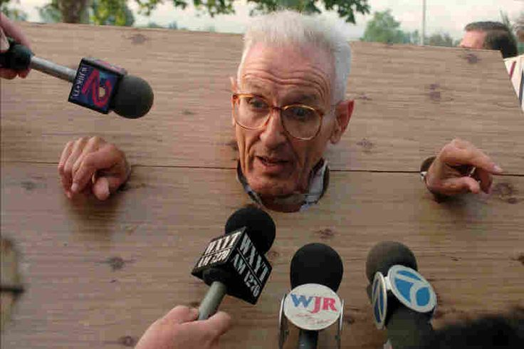 [audio] June 3, 2011 Jack Kevorkian, Assisted Suicide Advocate, Dies At 83 || Displaying his flair for the dramatic, Kevorkian met the press wearing stocks he made himself before a court arraignment on assisted suicide charges in Pontiac, Mich., in 1995.