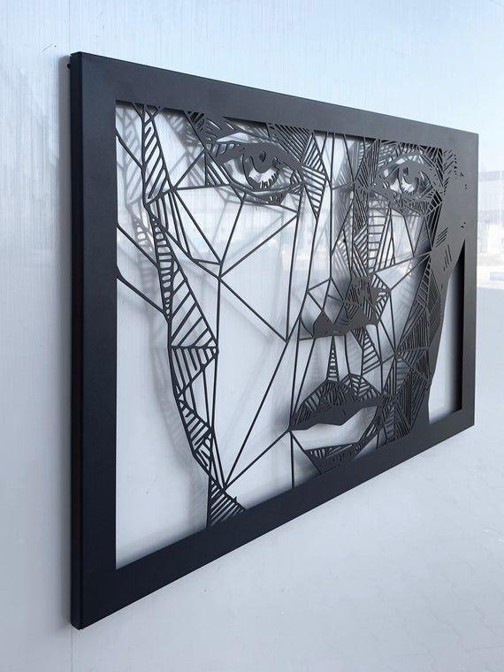 Abstract Woman Face Metal Wall Art Metal Wall Sculpture Etsy Metal Wall Sculpture Metal Wall Art Decor Metal Wall Decor