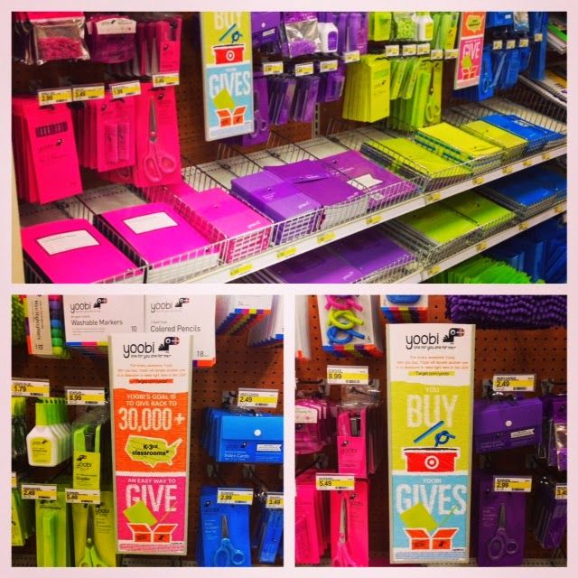 At Target, Yoobi classroom supplies are a new exclusive sure to sweep the nation. Yoobi is created to help other schools in need get supplies. I am probably going to shop from the collection for BTS 2014.