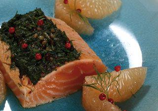 recette cooking chef saumon pamplemousse