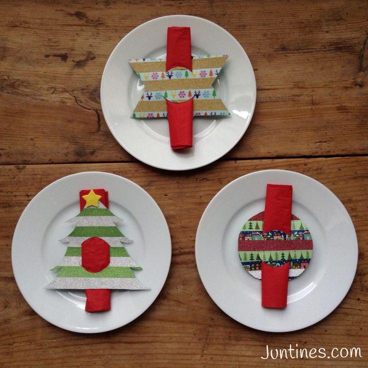 Servilleteros navideños hechos con washitape