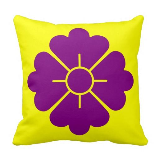 Flower shape design pillows - dark magenta - customizable: you can also change the background to any color you like as well as scale/position the design. For your convenience, the design is in both the front and the back, but if you don't want it in the back, you can always remove it.