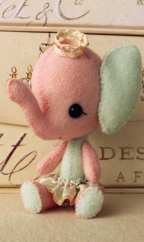 Elephant plush toy pattern